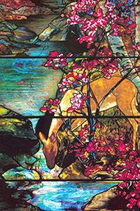 Deer Window by L.C. Tiffany